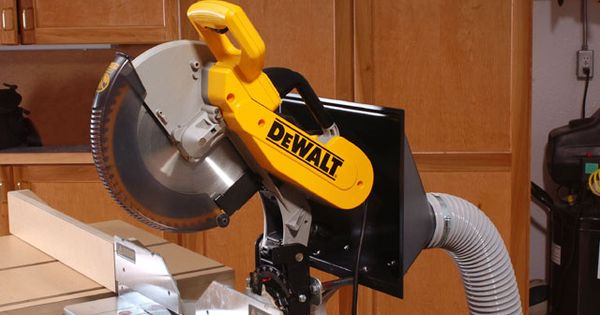 Miter saw dust hood modification garage stuff for Garage modification