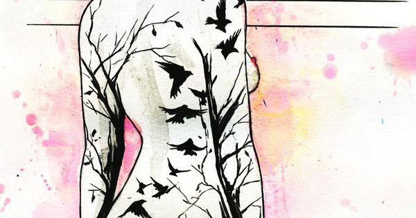 Eyes On Walls Tattoo Girl by Lora Zombie- Fine Art Print