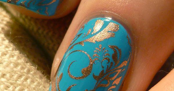 LOVE the colors and pattern!! Nail Art Designs nail art / nail