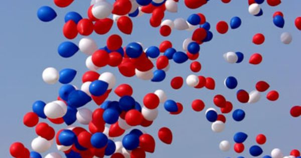Google Image Ballons in red, white, and blue ...