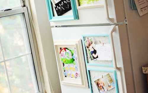 Easy & Inexpensive DIY Fridge Makeover! Great fridge organizer.