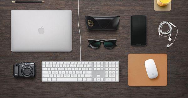 Free Designer Desk Essentials Mockup By GraphicBurger