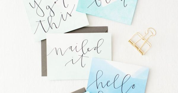 Diy calligraphy projects to get your hobby started