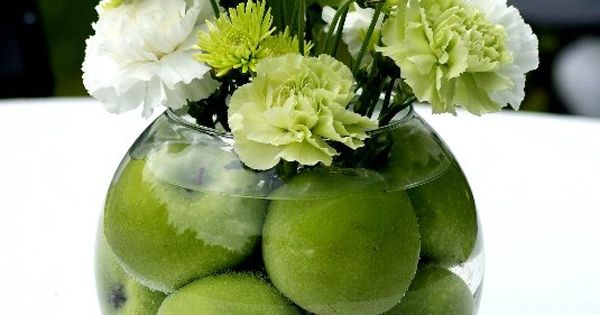 Green center piece, lots of fruit ideas