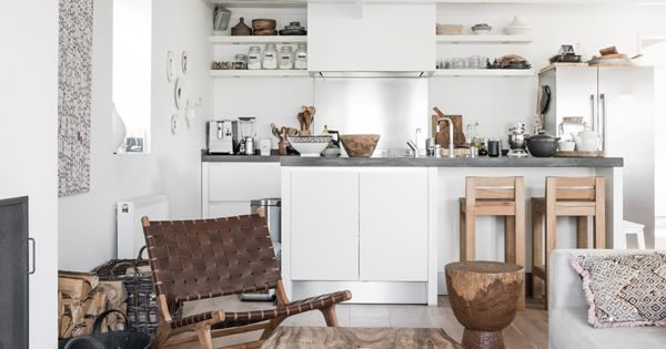 Modern white... rustic. Reminds me of the little cottage I had in