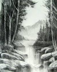 Resultado De Imagen Para Como Dibujar Un Paisaje Rural Facil Carboncillo Paisaje Boceto De Paisaje Paisaje A Lapiz