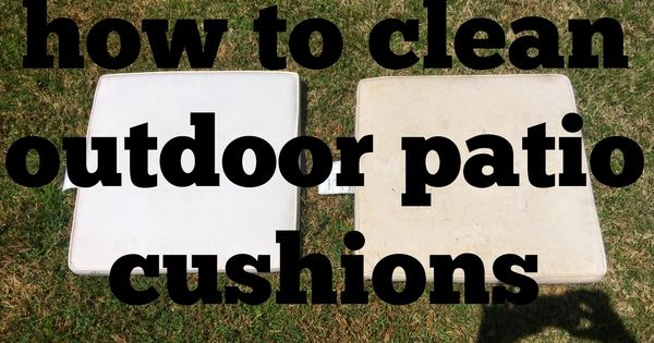 how to clean outdoor cushions vinegar