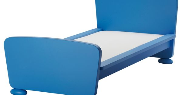 Mammut estructura de cama con somier azul ikea - Ikea camas para ninos ...