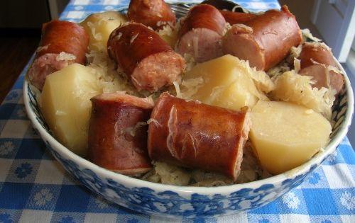 how to cook polish sausage on the stove
