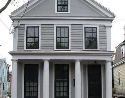 House body benjamin more graystone house trim benjamin - Benjamin moore silver chain exterior ...