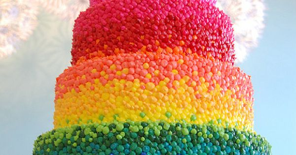 Jelly Bean rainbow cake...