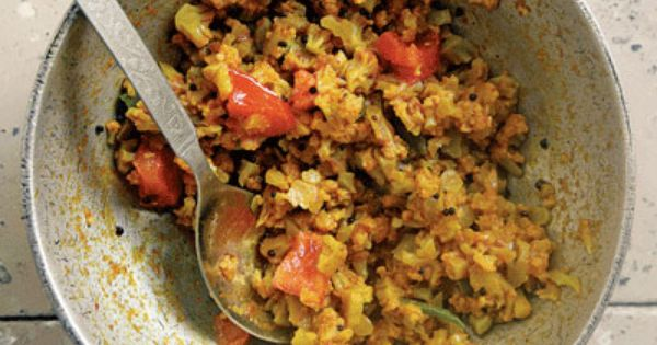 ... Cauliflower with Tomatoes | A well, Black mustard seeds and Indian