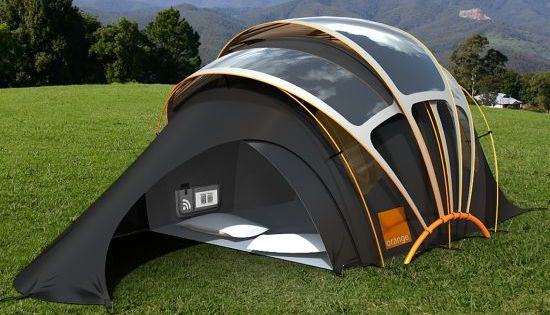 solar powered tent (to power your laptop and gadgets). This is probably