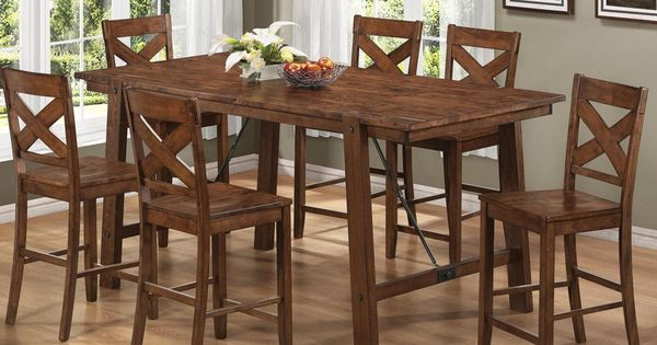 Vintage Rustic Pecan Finish Wood Plank 7 piece Counter  : d7d97e0e1f3aa306a04ba4957a7fc2a9 from www.pinterest.com size 600 x 315 jpeg 41kB