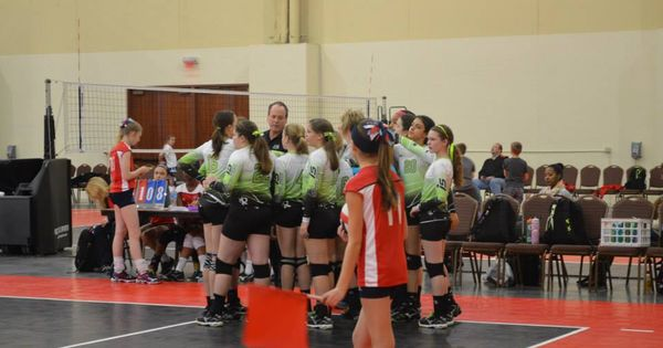 Team Huddle Volleyball Clubs Athlete Basketball Court