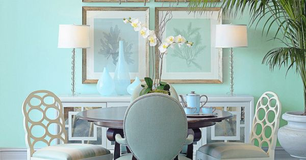 "Aqua - Benjamin Moore color ""dolphin cove."" Perfect for a beach house"