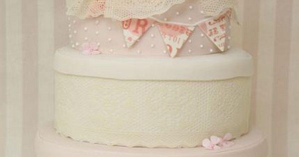 Hochzeitstorte Vintage Hutschachteln shabby chic rosa by suess-und ...