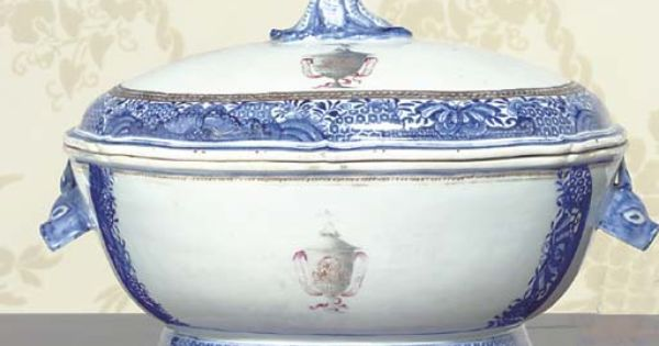 A Chinese Export Porcelain Armorial Soup Tureen And Cover