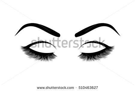 Eyelashes Vector Illustration Abstract Art Background Beautiful