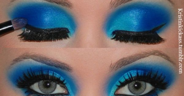 Halloween Eye Makeup Ideas | Turquoise eye makeup. halloween | performance makeup