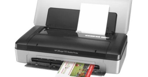 Best Buy Hp Officejet 100 Wireless Printer Gray Black Cn551a B1h Wireless Printer Mobile Printer Hp Officejet