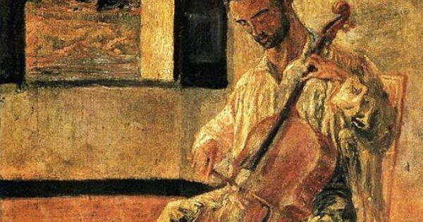 dali salvador 1904 1989 1920 portrait of the cellist. Black Bedroom Furniture Sets. Home Design Ideas