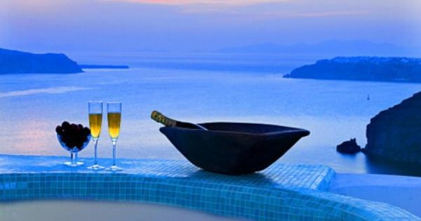 Blue Dusk Spa, Santorini, Greece. Beautiful.