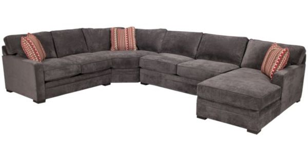 Jonathan Louis Sectional in the colour storm (a grey green) : Furniture : Pinterest : Grey ...