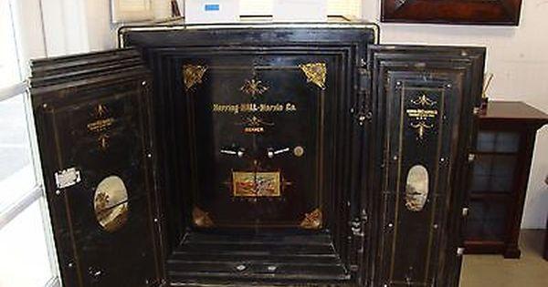 Fabulous Antique Herring Hall Marvin Double Door Safe Original