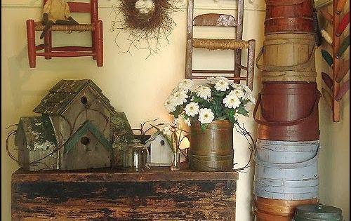 Primitive Americana Decorating Ideas-rustic Colonial Style