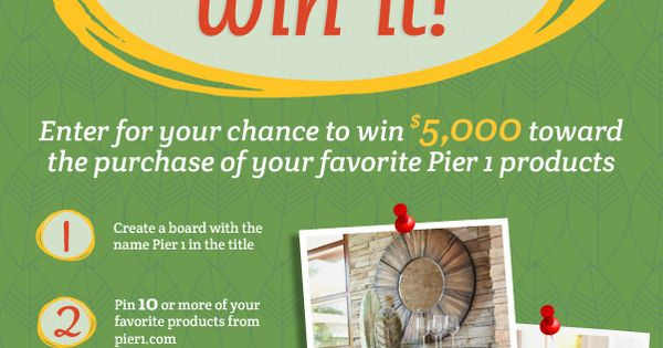 How would you like to win 5 000 toward your favorite pier for Enter now to win