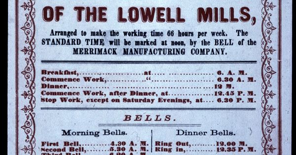 lowell mills essay example Lowell mills girls in the oppressing hand of avarice would enslave us, thomas dublin says that the life and sense of community of the women mill operatives was crucial for their ability to protest wage cuts and long work days.