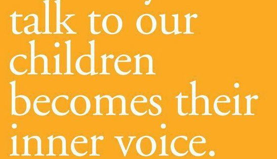 Food for thought. What are my kids' inner voices like?