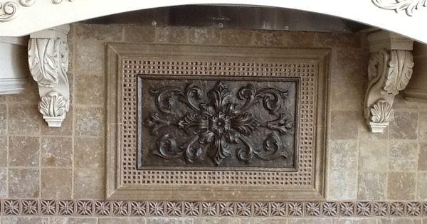 Antique Bronze Medallion Crushed Glass Decoratives