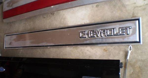 73 87 K5 Blazer Tailgate Trim Finish Panel Oem Molding Rare 454