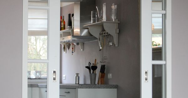 schuifdeuren woonkamer hout - Google zoeken - kamer keuken ...