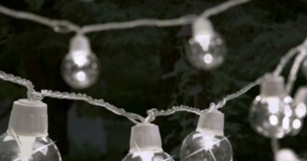 These Auva LED Outdoor Bauble String Lights are great if your having a football party! #Football ...