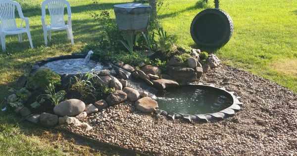 Repurposed Tractor Tire Pond Ponds Pinterest