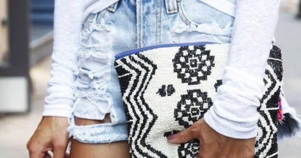 Bag, clutch, Style, Fashion, black, white
