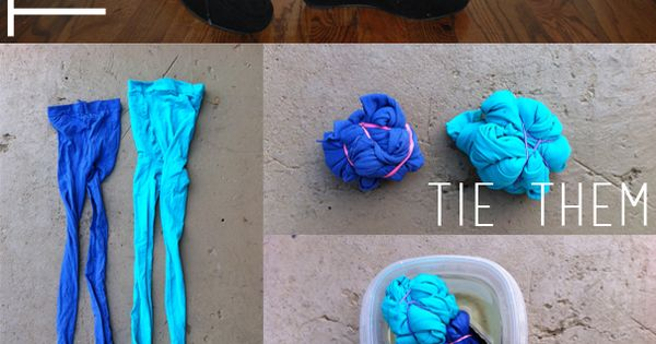 Hey Wanderer: the DIY: TIE DYE TIGHTS