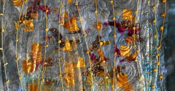 Hint Of Klimt By Angela Huddart Art Quilt Made With