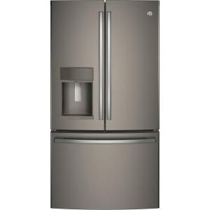 Ge Adora 27 8 Cu Ft French Door Refrigerator With Hands Free Autofill In Slate Fingerprint Resistant And Energy Star Dfe28jmkes French Door Refrigerator Counter Depth French Door Refrigerator French Doors