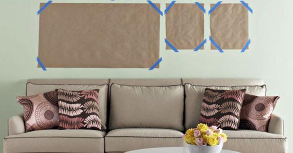 Composici n de cuadros en pared con papel art and - Composicion de cuadros ...