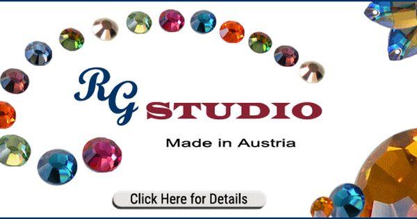 Rg Studio Rhinestone Line Swarovski Crystals Preciosa Crystal Rhinestone Trim