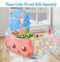 Portable Kids Baby Ocean Ball Pit Pool Game Play Tent House Playpen Toy Outdoor