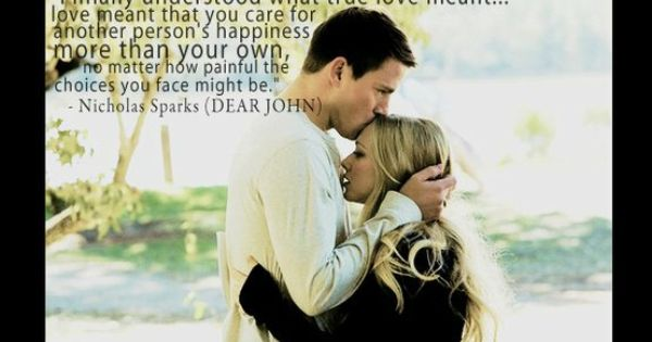 Dear John - based on book by Nicholas Sparks