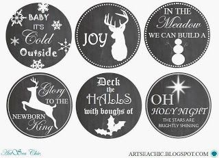 Artsea Chic Printables Holiday Mason Jar Christmas Mason Jars Mason Jar Lids Crafts