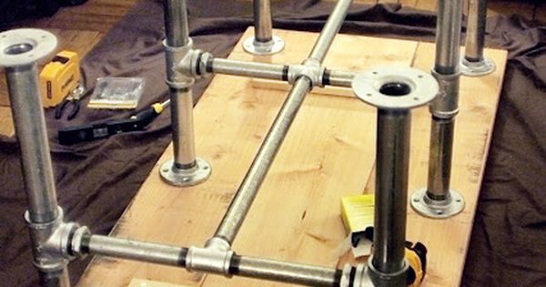 Iron Pipe Table Legs With 2x10 Quot Table Top Furniture