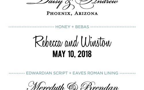 Good Font Combinations For Wedding Invitations: ForYourParty's Favorite Font Combinations! Get Inspired