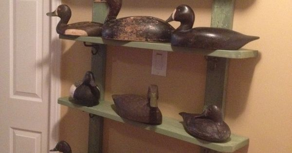 Tiny Home Designs: Duck Decoy Display. Shelf Made Of Reclaimed Wood.